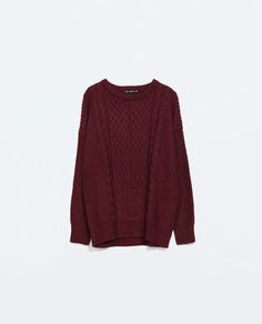 Image 6 of MIXED KNITS SWEATER from Zara