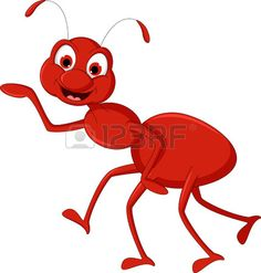 red ant cartoon presenting Stock Vector - 22569079