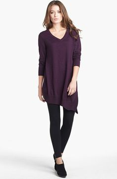 Eileen Fisher V-Neck Merino Jersey Layering Tunic Dress available at #Nordstrom