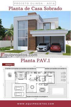 House Floor Design, Modern House Floor Plans, 2 Storey House Design, Modern House Facades, Sims House Design, Simple House Plans, Duplex House Design, New House Plans, Dream House Plans