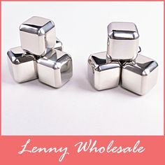 8pcs+clamp/lot whisky Chilling wine  stainless steel ice cubes ,beer ice whiskey stones,cooling Drink Chiller whisky stones