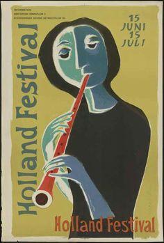 Vintage Holland Festival posters