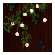 Solar-powered light chain from ikea, for the back porch and the yard, I love these, of course I love the idea a white party lights in the yard in any form...