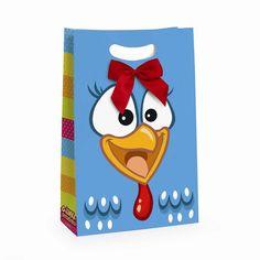 PRÉ VENDA - ENTREGAS A PARTIR DE SETEMBRO <br>Linda sacola ara festa da galinha pintadinha com frente da galinha e verso com pintinho amarelinho. Um arraso! <br> <br>Sua festa vai ser um sucesso! <br>Ela serve para decorar a mesa, armários, acondicionar lembranças ou para os convidados levarem as guloseimas para casa. <br> <br>Confeccionada em Papel com acabamento Brilhante 300gr a prova D'água frente e verso. Pode ser personalizada com tag, nome e idade