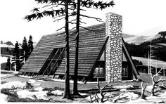 A-Frame House Plan chp-40622 at COOLhouseplans.com