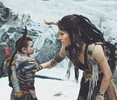 Atreus and The Witch, God of War