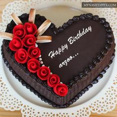 create rose birthday cake image with name editor for your friends