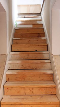 My EnRoute life: Ugly Basement Stairs update - Modern Staircase Makeover, Basement Makeover, Basement Renovations, Home Remodeling, Stair Redo, Basement Decorating, Rustic Renovations, Bedroom Remodeling, Kitchen Remodeling
