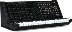 37-key Classic Analog Synthesizer with Mini Patch Bay, External Signal Processor, MIDI In, and USB for MIDI Connectivity