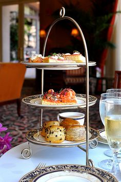 Chocolate afternoon tea on a Sunday at the Langham Hotel in Pasadena