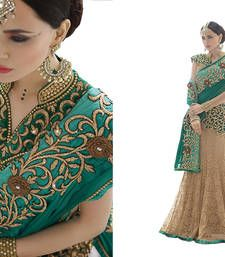 Buy Chiku raschel net embroidered unstitched bridal lehengas bridal-lehenga online