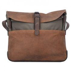 Harold's Messenger 'Twister' in braun / dunkelgrau Messenger Bag, Diaper Bag, Laptop, Satchel, Tote Bag, Products, Suitcase, Handbags, Get Tan