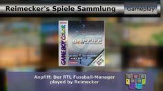 Gameplay : Anpfiff: Der RTL Fussball Manager [Gameboy Color]