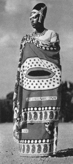 "Africa   ""The Mwamikazi Rosalie Gicanda, wife of Mwami Ruanda"". 1958   ©C. Lamotte, Congo Presse"