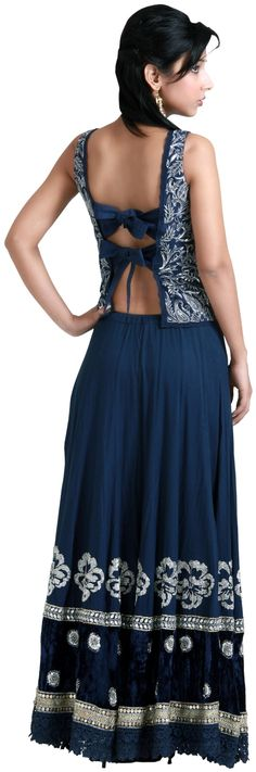 Blue embroidered lehenga choli - #LEHENGAS - WOMEN'S WEAR