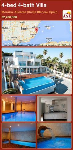 4-bed 4-bath Villa in Moraira, Alicante (Costa Blanca), Spain ►€2,490,000 #PropertyForSaleInSpain