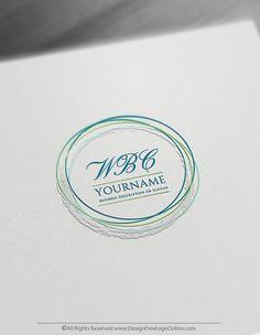 Design Free Monogram Logo – Circle Sketch Alphabet Logo Template