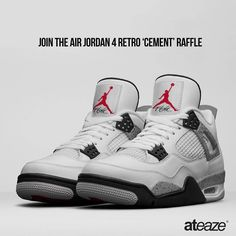 Were giving you the chance to buy the Air Jordan 4 White Cement in-store ateaze and stress free. Heres what you need to do to get the best chance of copping this pair ahead of the crowd:  Mechanics  1.Go to www.ateaze.com and sign up for our newsletter. 2.	Like our FB page. (http://ift.tt/1Pxn4gR) 3.	Like our IG page. 4.	In the comments section  tag three of your friends.  Rules:  1.	Only ONE entry per person. Multiple entries will NOT be counted. 2.	Only open to customers who are able to…