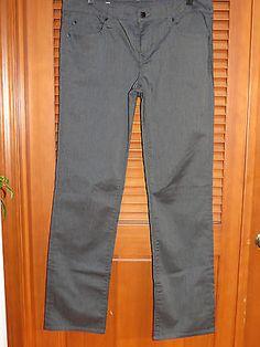 GAP 1969 Real Straight Grey 32 / 14R Pants Slacks Jeans Womens 5 pocket