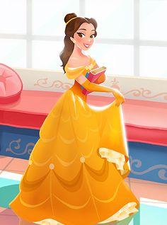 Belle - Beauty and the Beast Walt Disney, Disney Pixar, Disney Nerd, Disney Films, Disney Fan Art, Cute Disney, Disney Dream, Disney And Dreamworks, Disney Animation