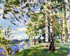 Аркадий Александрович Рылов (1870—1939). Буйный ветер. 1916.