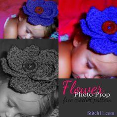 Free Flower Photo Prop Crochet Pattern!