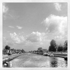 Het Overijssels. Kanaal in Vriezenveen. Twente. Overijssel. Nederland.