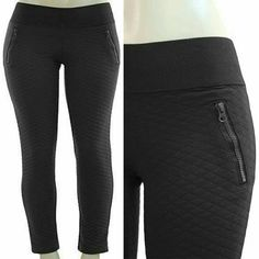 "☆☆HP Plus size quilted leggings skinnes Black New Black Faux pocket with zipper accent. Elastic waistband. Soft quilted fabric, Stretchy, Medium to heavy weight. Fabric Content : 67%ployster, %29% Rayon, 4%Spandex  Across Measurments were taken while laying flat  Inseam : 30"" Total Length : 38"" Front Rise: 10"" Back Rise : 14""   1X Waist : 15-18""  2X Waist : 16-19""    3X Waist : 17-20""   《《 PRICE IS FIRM UNLESS BUNDLED 》》 Boutique  Pants Skinny"