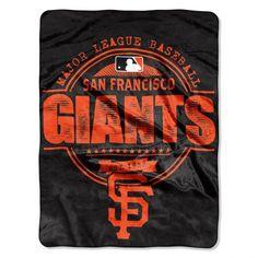 "San Francisco Giants 46"" x 60"" Micro Raschel Throw Blanket - Rolled - Structure"