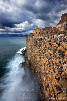 Greece Travel Inspiration - my hometown ... monemvasia , peloponnese , medeival castle ... im so in love