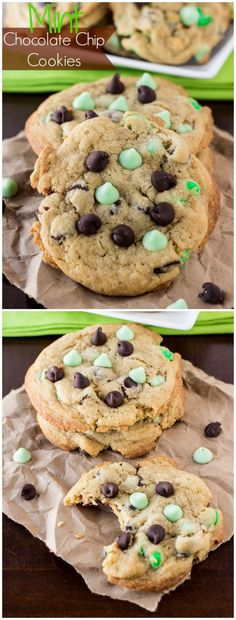 Mint Chocolate Chip Cookies recipe at deliciouslysprinkled.com