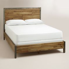 Wood Platform Bed Frame With Headboard - Modern bed frames have already been a craze in this modern era. Bed Frame And Headboard, Headboards For Beds, Bed Frames, Cheap Headboards, Queen Headboard, White Full Size Bed, Bedroom Furniture, Bedroom Decor, Wood Bedroom