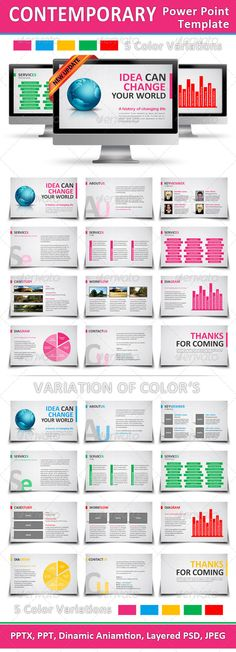 Contemporary Power Point Template - GraphicRiver Item for Sale