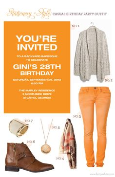 Stationery + Style: Casual Birthday Party Outfit