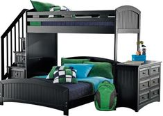 Cottage Colors Black Twin Full Step Loft with Dresser . $1,399.99. 114.25L x 77.5W x 70H. Find affordable Twin Beds for your home that will complement the rest of your furniture.