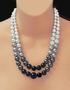 Black White & Grey Pearls A Classic Limited Edition Quality Is Remembered Long After Price Is Forgotten.Certain Things Catch Your Eye, But Pursue Only Those That Capture Your Heart. Diy Jewelry Rings, Diy Jewelry Unique, Bead Jewellery, Pearl Jewelry, Beaded Jewelry, Handmade Jewelry, Beaded Necklace, Jewelry Making, Pearl Necklaces