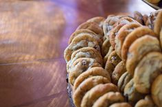 Chocolate chip cookies at a wedding reception?  Umm, yes!  Top Tier Delights are one of the premiere dessert makers in the area.    Photographs © Midwest LifeShots Photography of Rochester Minnesota, http://www.midwestlifeshots.com.