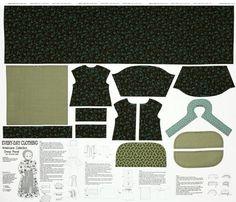 """Americana Collection Everyday Dress Panel""100% Cotton Fabric- 18"" Doll Dress #Benartex"