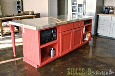 Diy Kitchen island From Stock Cabinets Lovely Best 25 Build Kitchen island Ideas… Blue Kitchen Decor, Vintage Kitchen, Kitchen Ideas, Diy Furniture Easy, Furniture Plans, Office Furniture, Home Design, Design Ideas, Country Countertops