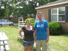Amber and John of Sparc came to campus May 30 to paint some of the baseboards at our storage facility.