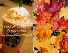 Enjoy a Taste of October Frappuccino once again! #StarbucksSecretMenu Recipe here: http://starbuckssecretmenu.net/starbucks-secret-menu-taste-of-october-frappuccino/