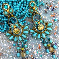 Brighten your day with our Alegra statement earrings and enjoy 50% off....as seen on display at our Tel Aviv designer store. #doricsengeri #statementearrings #turquoiseearrings #tlv #resortwear