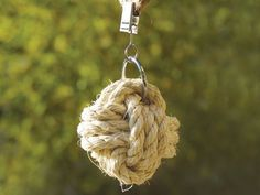Clip-On Rope Knot Tablecloth Weights