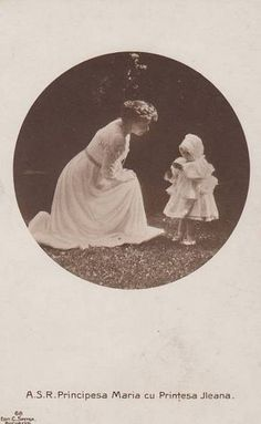 Princess Marie of Romania with her daughter Ileana. Romanian Royal Family, Greek Royal Family, Queen Mary, King Queen, Royal Family Lineage, Princess Alice, Historical Artifacts, English Royalty, Thing 1