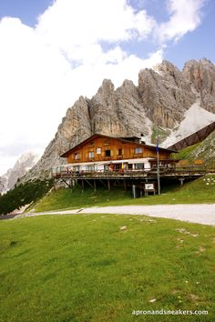 Rifugio Son Forca. Dining at 2,235 meters at Monte Cristallo,Dolomites, Italy Near Cortina