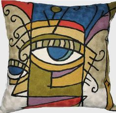 picasso lady | Decorative Throw Pillows - Picasso Lady in Vogue Pillow