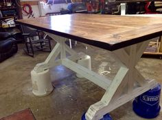 Another table almost finish made by my husband