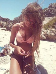 Perfect body girl Woman Wonderful summer