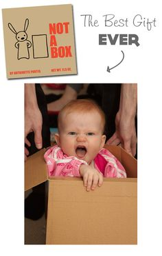 """{The Best Gift Ever} Ha. A """"science experiment"""" to see if your little one would pick a box over all their holiday toys at the end of the night. What do you think of the hypothesis?"""