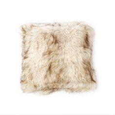 "2014: Amazon.com - Champagne Fox Faux Fur Pillow $40 for 24"" x 24"" pair"